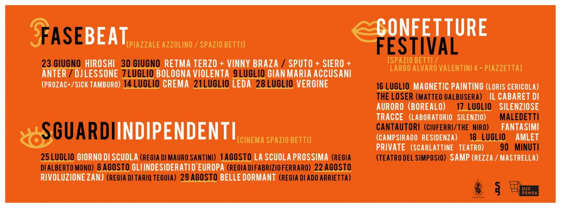 Eventi SpazioBetti Estate 2021